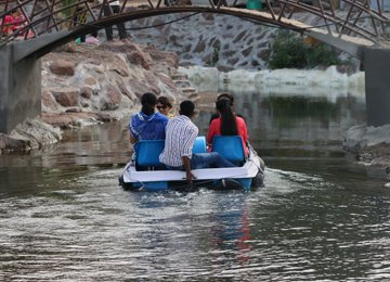 Boating At Meher Retreat